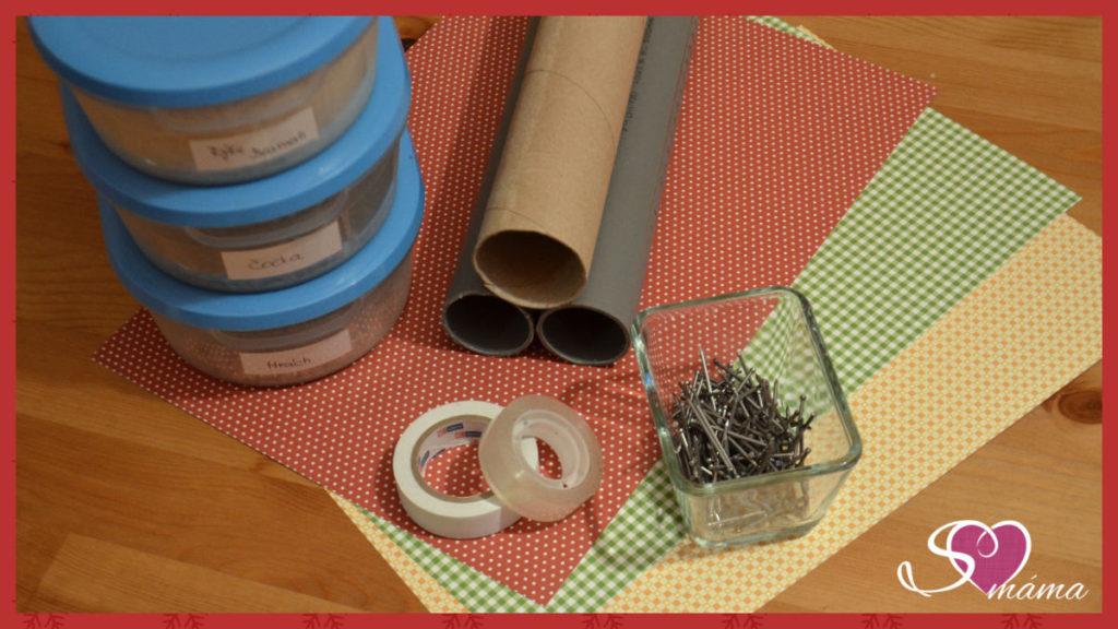 Materiál pro výrobu dešťové hole
