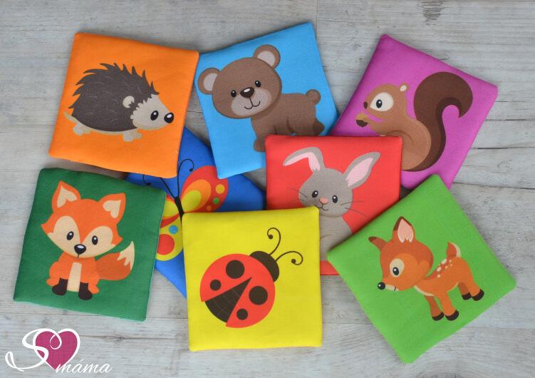 Kartičky se zvířátky - hotové ušité kartičky