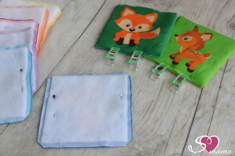 Kartičky se zvířátky - ustřižení rohů a přetočení kartiček