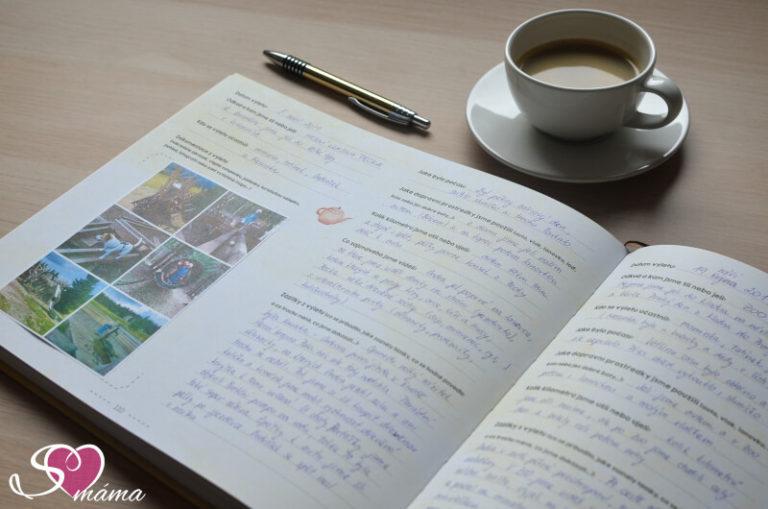 Kniha Naše výlety - jak se nám do knihy zapisuje